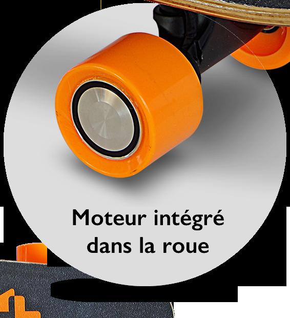 Skate Inmotion K1: moteur intégré dans la roue